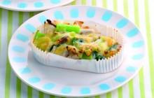 小松菜とホタテのグラタン