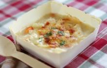 濃厚チーズたっぷり!クリームシチュー風グラタン