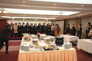 女子栄養大学(駒込キャンパス)でのレセプション