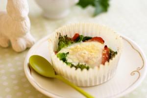 菜の花とベーコンのココット パルメザンチーズ風味