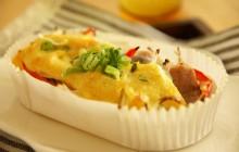 カツオと新玉ねぎのカレーマヨネーズ焼き