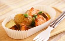 秋鮭と新じゃがの味噌マヨネーズ焼き