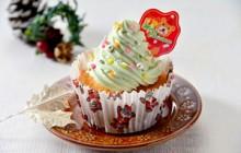 クリスマスツリーカップケーキ