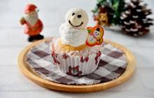 雪だるまカップケーキ