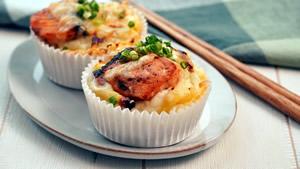 鮭の味噌バター和風グラタン