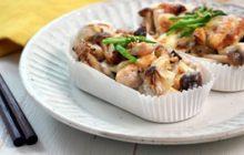 里芋と鶏肉の和風グラタン
