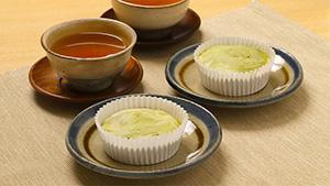 抹茶と白あんのマドレーヌ(小麦・乳・卵アレルギー除去)