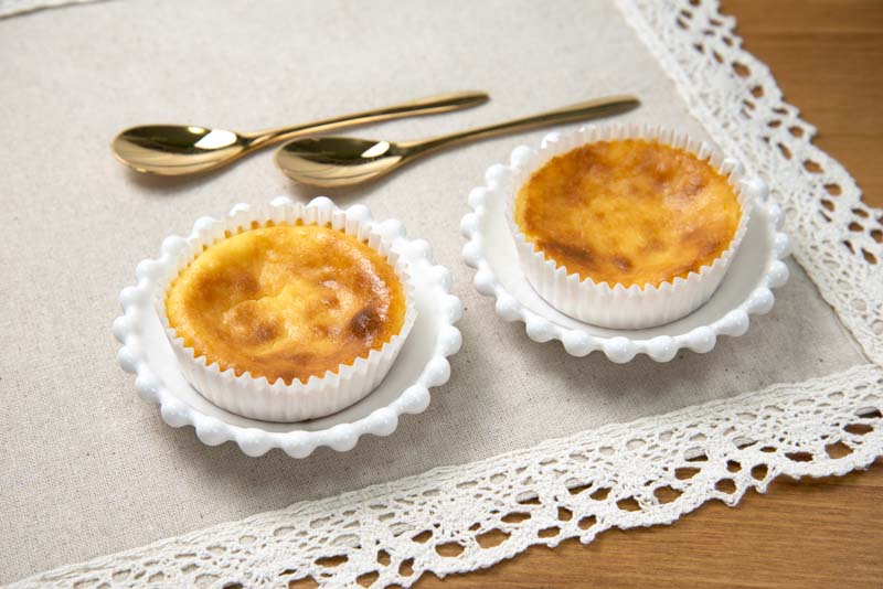 焼くまで10分簡単カップチーズケーキ