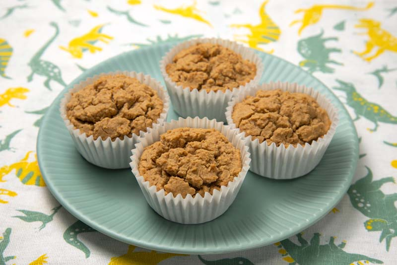 卵なしで作るきな粉のカップケーキ