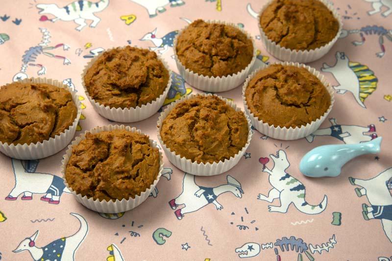 ホットケーキミックスで作る、きな粉のカップケーキ
