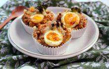 カレーと卵のグラタン